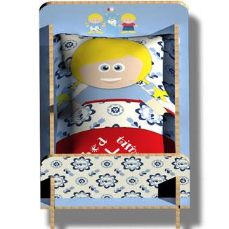 WANDenWOONdeco.nl BEDTIME bedtime met kussen LOES