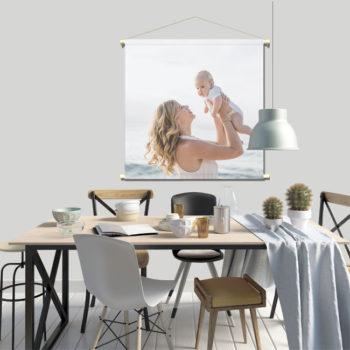 WANDenWOONdeco.nl textielposter-Eigen FOTO afb is 120x120 cm