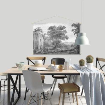 WANDenWOONdeco.nl textielposter PABE afb 120x80 cm