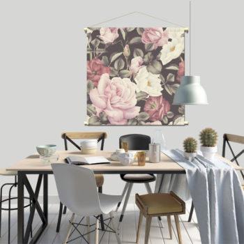 WANDenWOONdeco.nl textielposter PERNILLA afb 120x120 cm