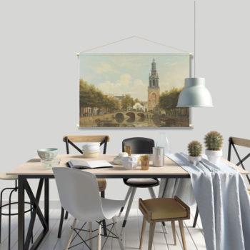 WANDenWOONdeco.nl textielposter PIET afb 120x80 cm