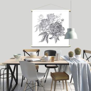 WANDenWOONdeco.nl textielposter PIPPIJN afb 120x120 cm
