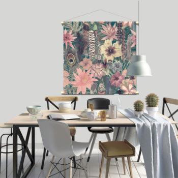 WANDenWOONdeco.nl textielposter POLLY afb 20x120 cm