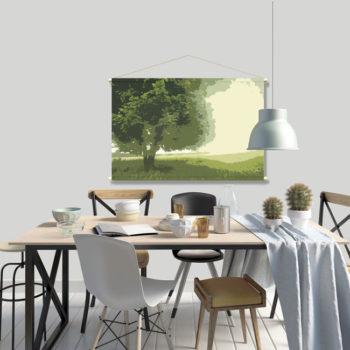 WANDenWOONdeco.nl textielposter PETER 120x80 cm