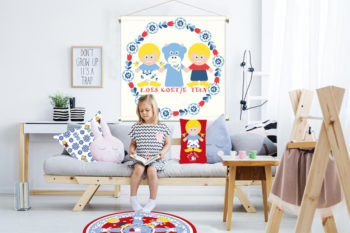 WANDenWOONdeco.nl WWDNL KIDS textielposter FRIENDS