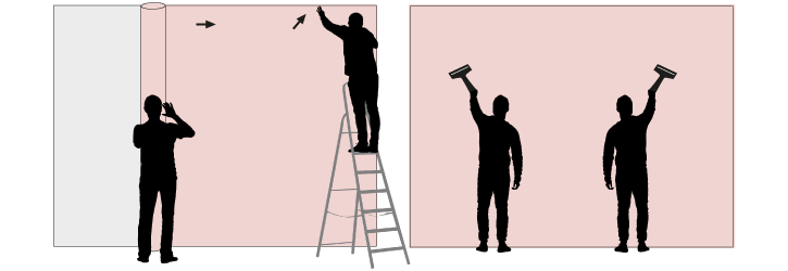 W&wd behang aanbrengen-en-aanstrijken