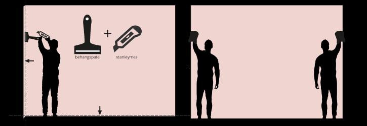 W&wd behang bijsnijden-en-schoondroog-maken