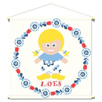 WANDenWOONdeco.nl WWDNL KIDS textielposter-LOES