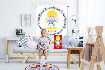 WANDenWOONdeco.nl WWDNL KIDS textielposter-LOES-