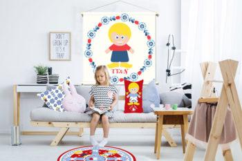 WANDenWOONdeco.nl WWDNL KIDS textielposter TEUN