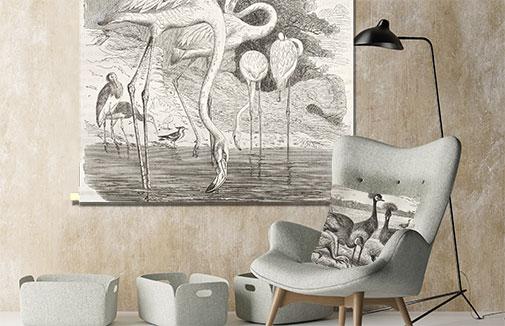 WANDenWOONdeco.nl textielposter PERRY ENGRAVED woondecoratie