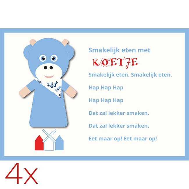 WANDenWOOndeco.nl placemats KOEtje per 4 stuks