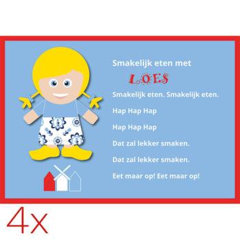 WANDenWOONdeco.nl placemats LOES per 4 stuks