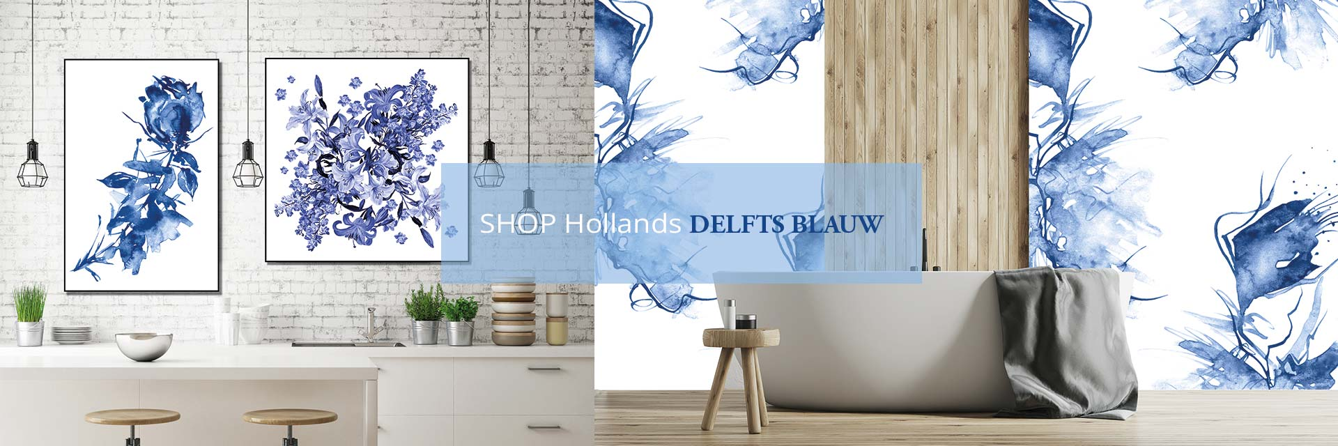 WANDenWOONdeco.nl DELFTS BLAUW