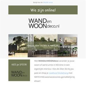 WANDenWOOndeco.nl nieuwsbrief We zijn ONLINE
