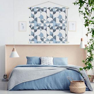 WANDenWOONdeco.nl textielposter PAAPKE wanddecoratie en woonaccessoires