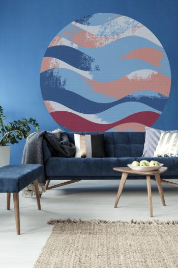 WANDenWOONdeco.nl zelfklevend behang cirkel ZEN