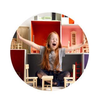 WANDenWOONdeco.nl zelfklevend behang cirkel eigen foto