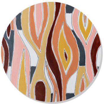 WANDenWOONdeco.nl dibond cirkel FLOWING Atelier Andrea