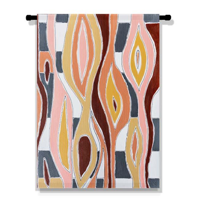 WANDenWOONdeco.nl Atelier Andrea WANDdecoDOEK en WANDDOEK katoen -FLOWING