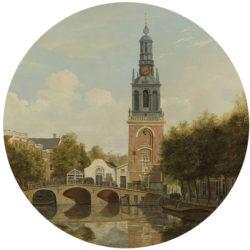WANDenWOONdeco.nl zelfklevend behang cirkel ZARA en Dibond cirkel DAAN