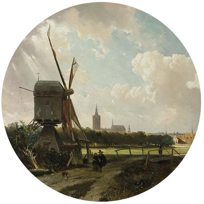 WANDenWOONdeco.nl zelfklevend behang cirkel ZAS en Dibond cirkel DRIES