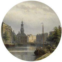WANDenWOONdeco.nl zelfklevend behang cirkel ZELDA en Dibond cirkel DIETER