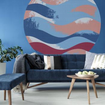 WANDenWOONdeco.nl zelfklevend behangcirkel ZEN