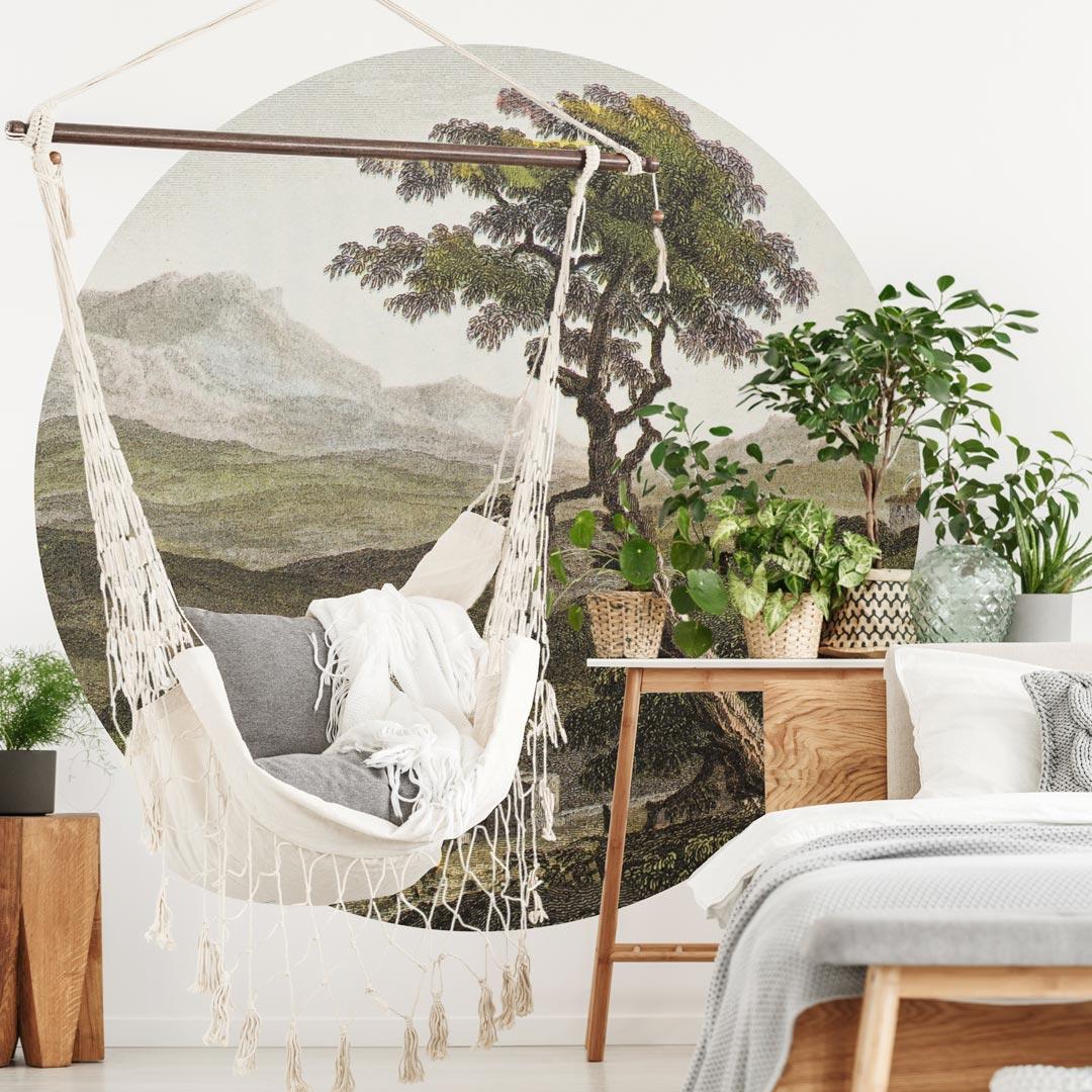WANDenWOONdeco.nl zelfklevend behangcirkel ZARO wanddecoratie en woonaccessoires