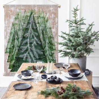 WANDenWOONdeco.nl textielposter PINE TREE kerst