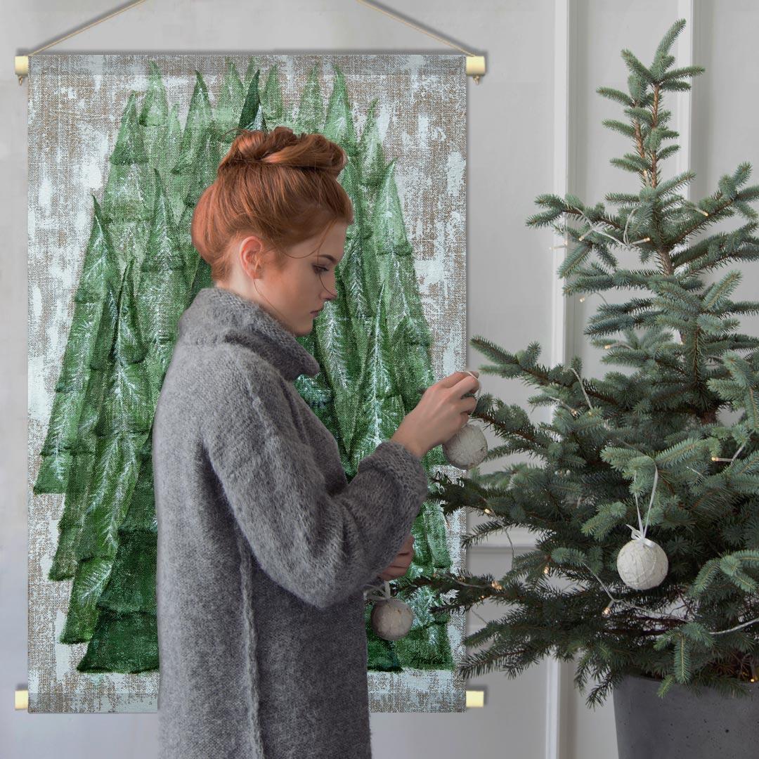 WANDenWOONdeco.nl textielposter PINE TREE