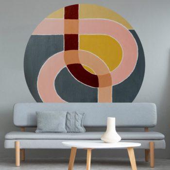 WANDenWOONdeco.nl Atelier Andrea zelfklevend behangcirkel en Dibond INTERFACE