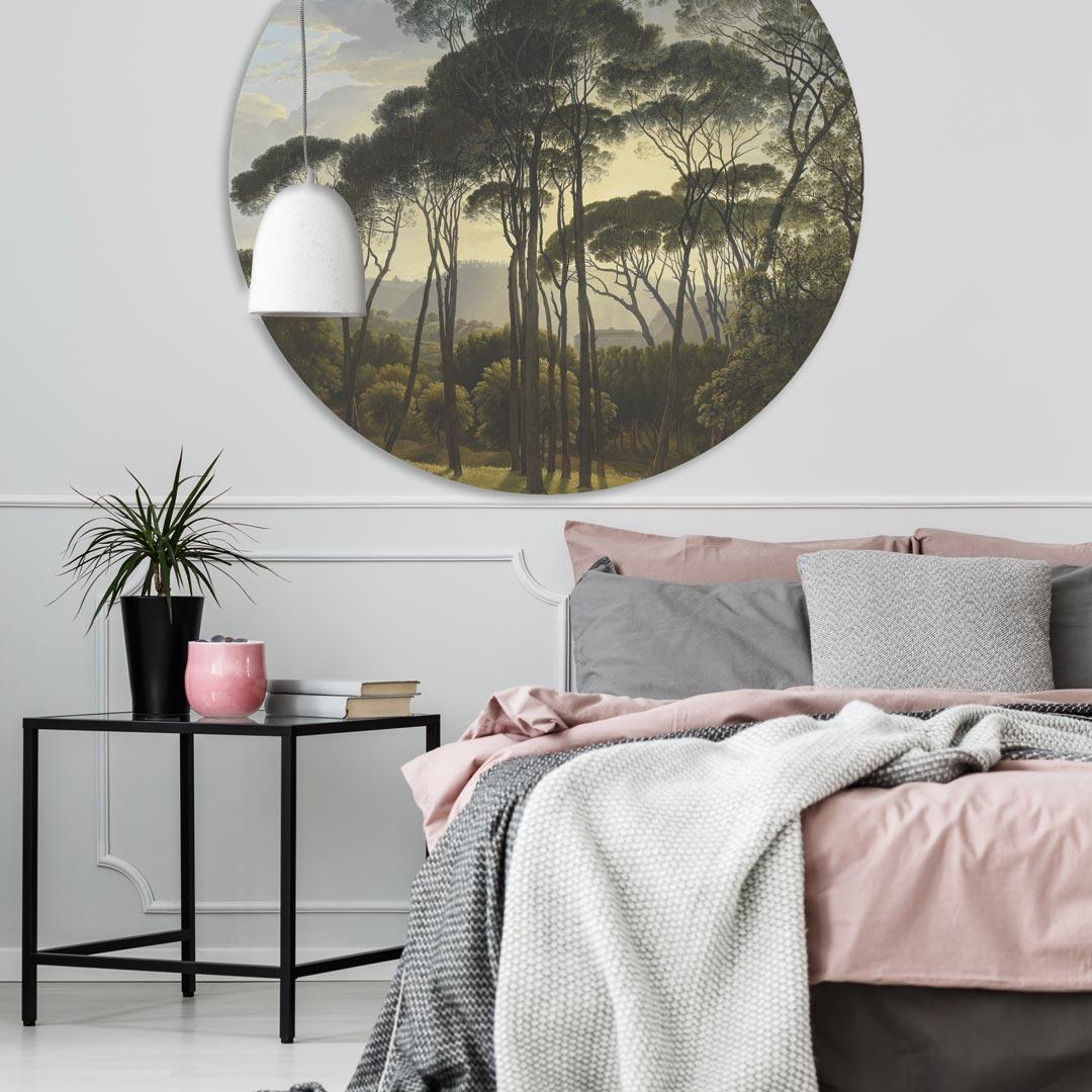 WANDenWOONdeco.nl zelfklevend behang cirkel ZACK en dibond cirkel DUNYA