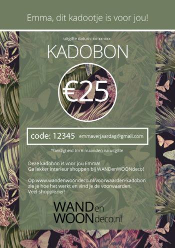 WANDenWOONdeco.nl kadobon design: groen