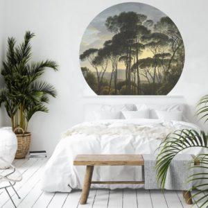 WANDenWOONdeco.nl Dibond cirkel DUNYA en zelfklevend behang cirkel ZACK