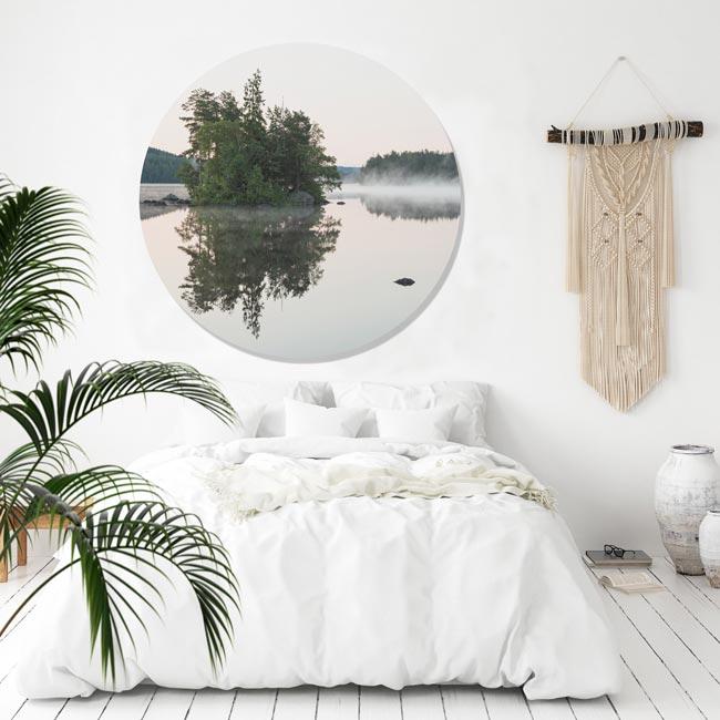 WANDenWOONdeco.nl dibond cirkel DAMIENwanddecoratie en woonaccessoires
