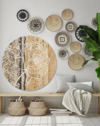 WANDenWOONdeco.nl dibond cirkel A ROSE FOR YOU
