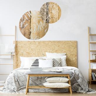 WANDenWOONdeco.nl AtelierAndrea zelfklevend behangcirkelswanddecoratie en woonaccessoires