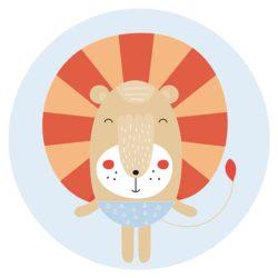 kinderkamer accessoires zelfklevend behang cirkel ZOYA
