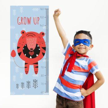 kinderkamer accessoires zelfklevend behang groeimeter