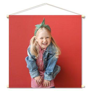kinderkamer accessoires textielposter eigen foto