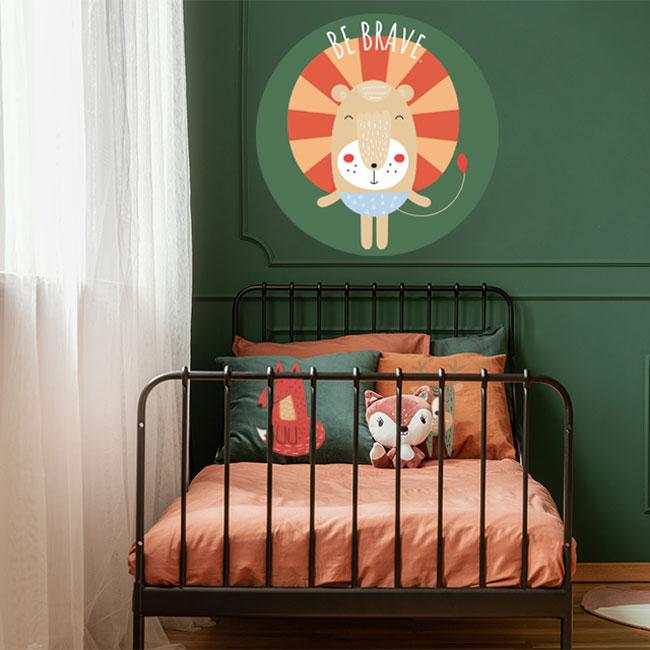 kinderkamer accessoires zelfklevend behang cirkel ZONNE