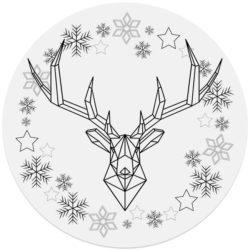 kerstdecoratie forex muurcirkel ARAM en Dibond cirkel DAVID