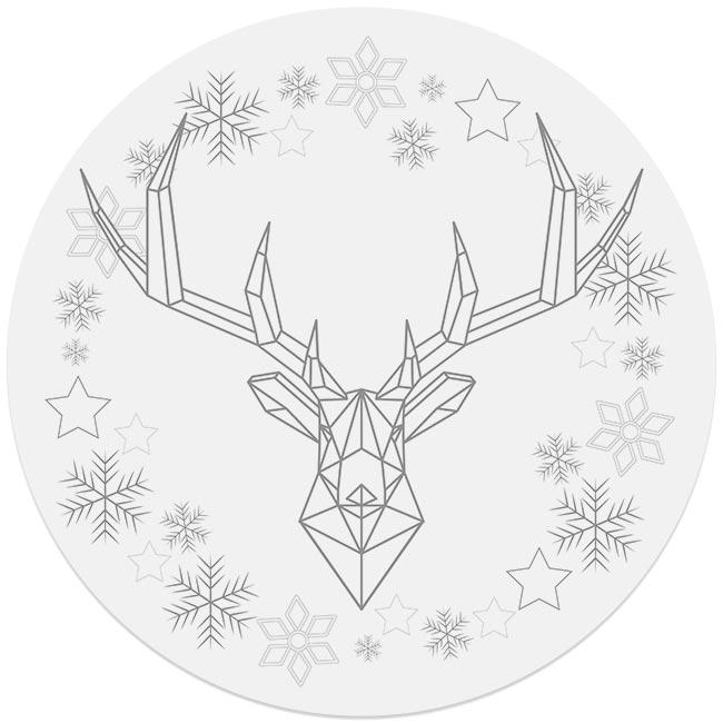 kerstdecoratie forex muurcirkel ARAM en Dibond cirkel DAVID zilvergrijs