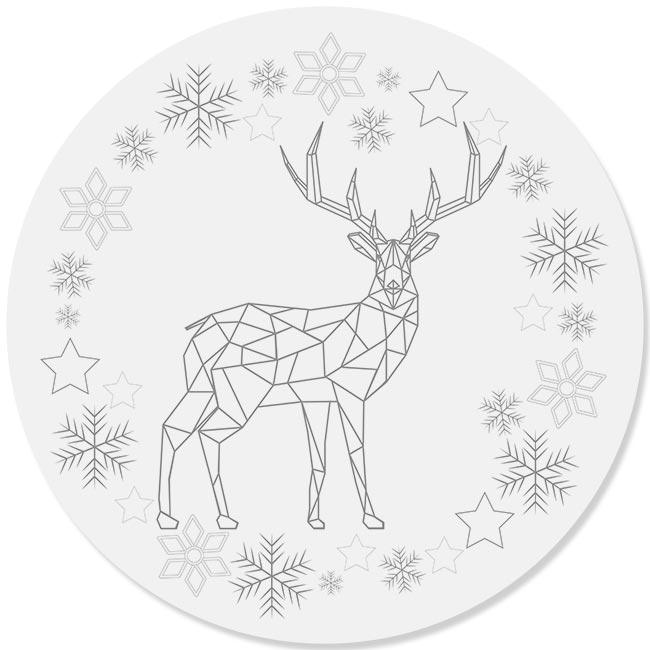 kerstdecoratie forex muurcirkel ARON zilvergrijs en Dibond cirkel DOUWE zilvergrijs