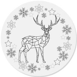 kerstdecoratie forex muurcirkel ARON zwart en Dibond cirkel zwart