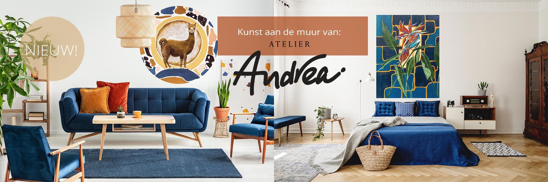 Kunst aan de muur Atelier-Andrea-winter-20-21-blauw