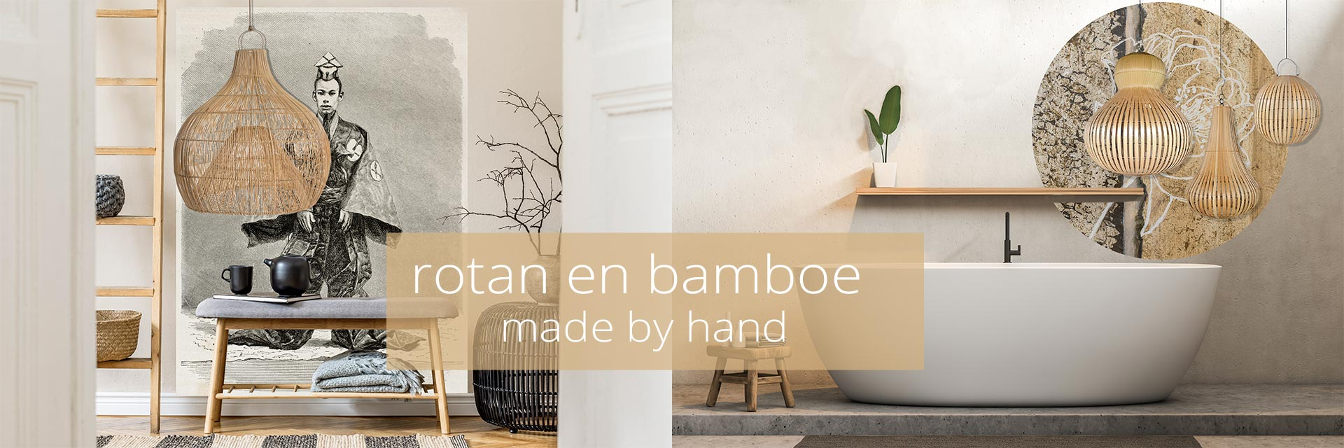 rotan en bamboe