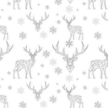 kerstdecoratie tafelkleed TIKO grijs close up