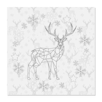 kerstdecoratie servetten TIMI grijs